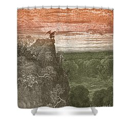 Satan, By Dore Shower Curtain by Photo Researchers