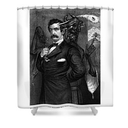 Satan Tempting John Wilkes Booth Shower Curtain by War Is Hell Store