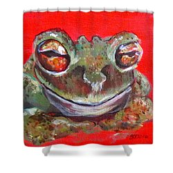 Satisfied Froggy  Shower Curtain
