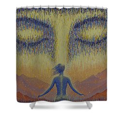 Satori Shower Curtain by Vrindavan Das
