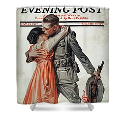 Saturday Evening Post Shower Curtain by Granger