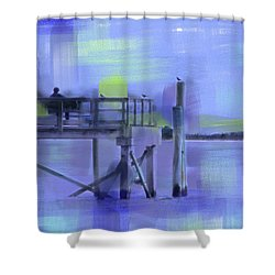 Saturday Idyll Shower Curtain