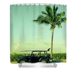 Shower Curtain featuring the photograph Saturday by Laura Fasulo
