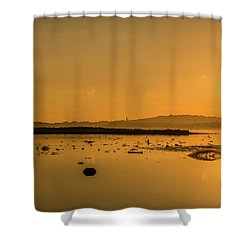 Saturday Morning Along The Estuary  Shower Curtain
