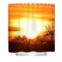 Saturday Mornings Sunrise Shower Curtain