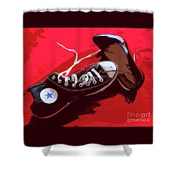 Living In Converse Saturday Night. Shower Curtain
