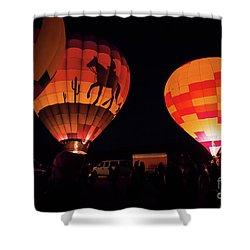 Saturday Night Lights Shower Curtain