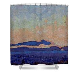 Saturday Stratocumulus Sunset Shower Curtain