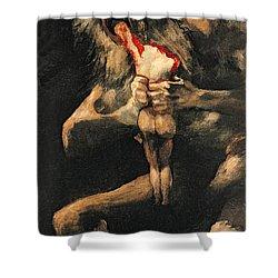 Saturn Devouring One Of His Children  Shower Curtain by Goya