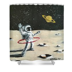 Saturn Ring Shower Curtain