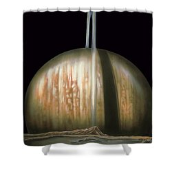 Saturn Rising Shower Curtain