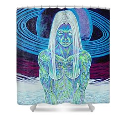 Saturn Sister Shower Curtain