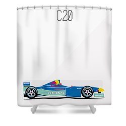 Sauber Petronas C20 F1 Poster Shower Curtain