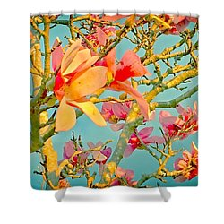 Saucer Magnolia Shower Curtain