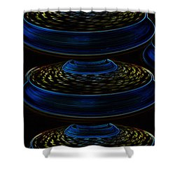 Saucers Shower Curtain by David Lee Thompson