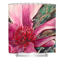 Saucy Magnolia Shower Curtain