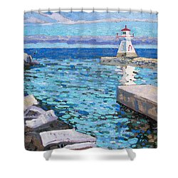 Saugeen Range Light Shower Curtain