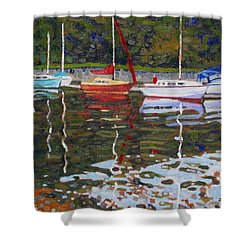 Saugeen Sailboats Shower Curtain by Phil Chadwick