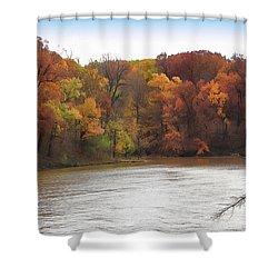 Sauk Lake Autumn Shower Curtain