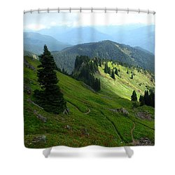 Sauk Mountain Hillside Shower Curtain by Karen Molenaar Terrell