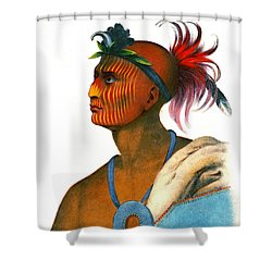 Shower Curtain featuring the photograph Sauk Warrior 1842 by Padre Art