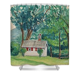 Sauna At Murray Hollow Shower Curtain by Fred Jinkins