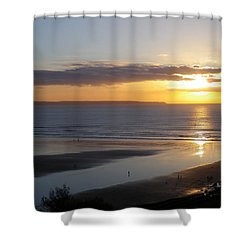 Saunton Sands Sunset Shower Curtain