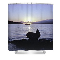 Sausalito Morning Shower Curtain