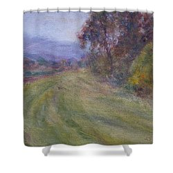 Sauvie Green Shower Curtain