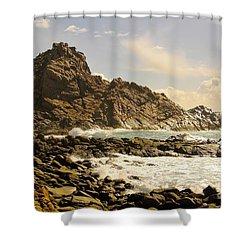 Savage Shower Curtain by Oscar Moreno