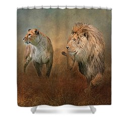 Savanna Lions Shower Curtain