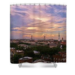 Savannah At Sunset Shower Curtain