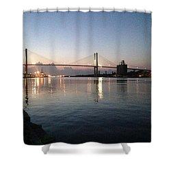 Savannah Bridge Evening  Shower Curtain