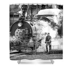 Savannah Central Steam Locomotive Shower Curtain by Scott Hansen