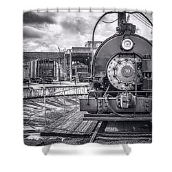Savannah Central Train Yard Shower Curtain by Scott Hansen