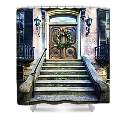 Shower Curtain featuring the photograph Savannah House 5 by Anthony Baatz