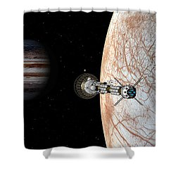 Savannah Leaving Europa Shower Curtain by David Robinson