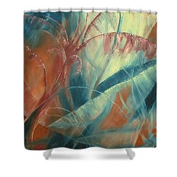 Shower Curtain featuring the painting Savannah by Renate Nadi Wesley