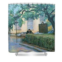 Savannah Shade Shower Curtain by Carol Strickland