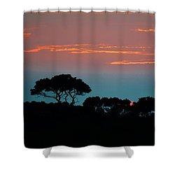 Savannah Sunset Shower Curtain by William Bartholomew