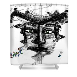Save Me  Shower Curtain by Sladjana Lazarevic