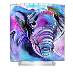 Save The Elephants Shower Curtain
