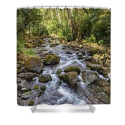 Savegre River - Costa Rica Shower Curtain