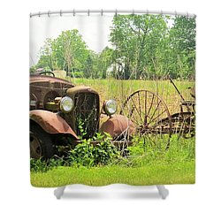 Saw Better Days Shower Curtain by Jeanette Oberholtzer