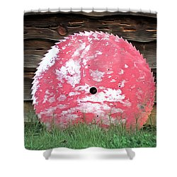 Shower Curtain featuring the photograph Saw Blade by Marion Johnson