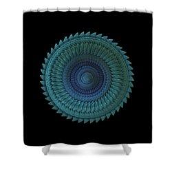 Shower Curtain featuring the digital art Sawblade by Lyle Hatch