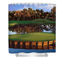 Sawgrass 17th Hole Hol Shower Curtain