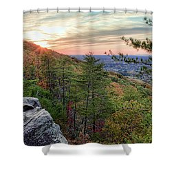 Sawnee Mountain And The Indian Seats Shower Curtain