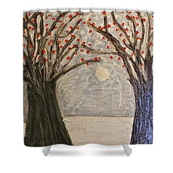 Sawsan's Trees Shower Curtain by Mario Perron