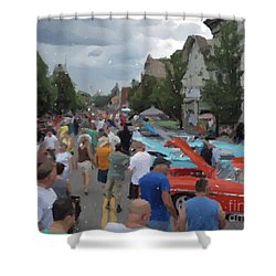 Sawyer's Car Show Shower Curtain